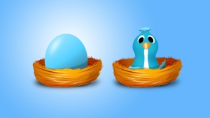 twitter with egg